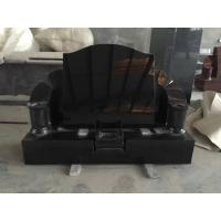 China Black Monument Low Price, Cemetery Hand Carved Tombstones wholesale