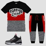 Buy cheap CLEARANCE Forever Laced OG Cement Outfit to match Jordan 3 OG Black Cement from wholesalers
