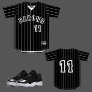 Buy cheap CLEARANCE BARONS 11 Baseball Jersey to match Jordan 11 Low Barons from wholesalers