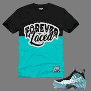 Buy cheap CLEARANCE Forever Laced Youth T-Shirt to match Nike Air Foamposite Pro Island Green from wholesalers