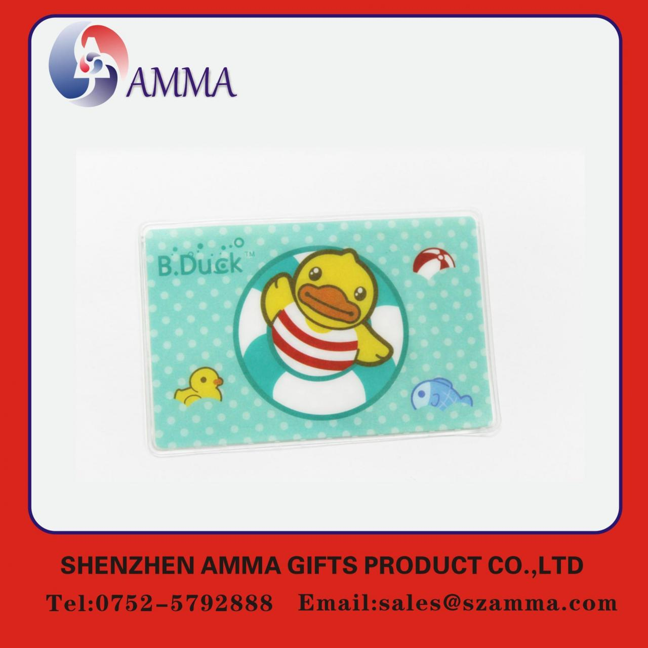 China Soft plastic ID card holder wholesale