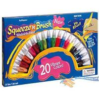 Squeeze N Brush Childrens Non Toxic Washable 2 in 1 Paint Tubes Art Craft Set from MTS