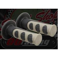 China BARS/GRIPS Grips. Pair. Soft. 606's. 2 part with anti slip off. 7/8th (22mm) Standard bars wholesale
