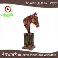 China Large Antique Sculpture Resin Ornament Horse Head Bust Statues for Sale wholesale