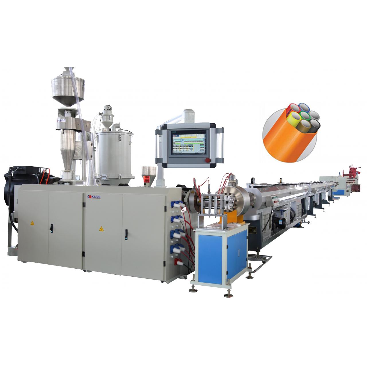 China Micro Duct PE Silcone/Bundles Pipe Line Microducts Bundles Production Machine wholesale
