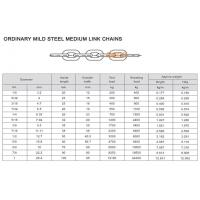 Buy cheap ORDINARY MILD STEEL MEDIUM LINK CHAINS from wholesalers