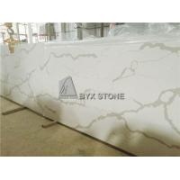 Buy cheap White Quartz Solid Surface Slabs for Bathroom Countertops and Kitchen Worktops from wholesalers