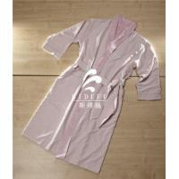 Luxury Hotel Unisex Men Women Double Layer Coral Fleece Lined Microfiber Bathrobe Wholesale