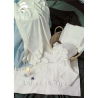 China Star Hotel Used White 100% Cotton Jacquard Terry Towel wholesale
