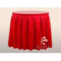 China 100% Satin Polyester Plain Hotel Table Skirting Hotel Linens wholesale