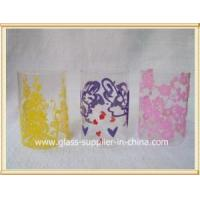China Glass printing Autumn promotion gift wholesale