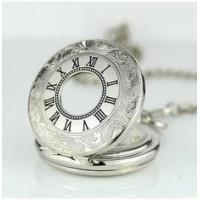 China Alloy Skeleton Movement Silver Pocket Watches For Mens , Mans Pocket Watch wholesale