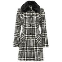 China Faux fur dogtooth coat wholesale
