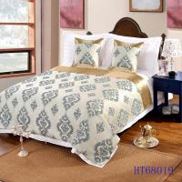 Customize design and material hotel bed runner and cushion cover for hotel use