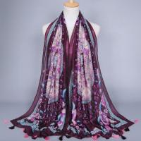 Buy cheap Colorful Mercerized Cotton Scarves from wholesalers