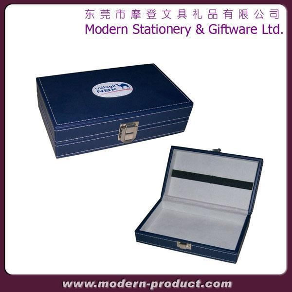 Quality 2012 High grade PU leather playing card box for sale
