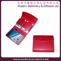 China Attractive red PU leather playing card game set wholesale
