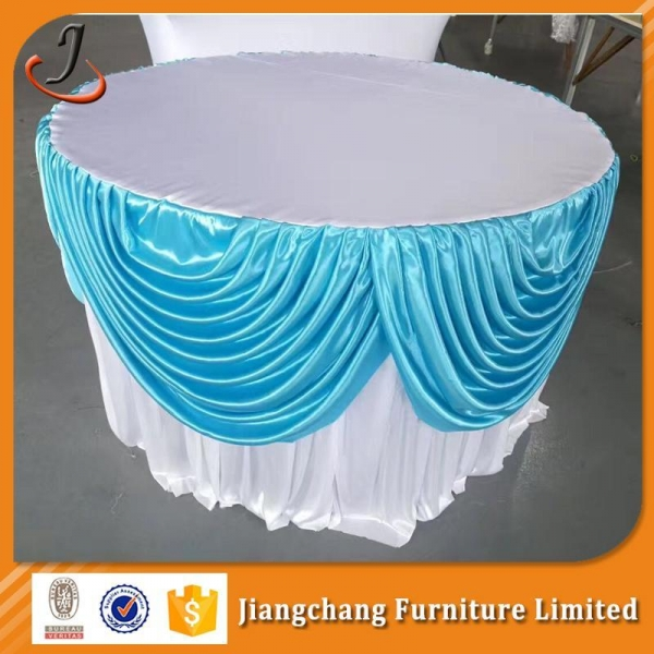 Quality Chair Cover And Table Cloth Wedding table skirt SF-ZB07 for sale