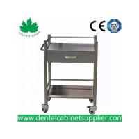 China Mobile Dental Cabinet Quality Stainless Steel Medical Trolly Dental Cart SSU-07 wholesale