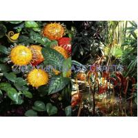 China Chihuly Style Hand Made Glass Sculpture For Garden Decoration YJ-15 wholesale