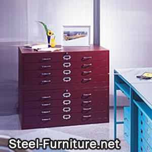 Draftsman storage cabinet of steel furniture - Cabinet france assurance consultants ...