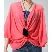 New women lace bat sleeve t-shirt red top NO.MT015-014 RMB:298.00