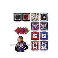 China Bandana made from poly/cotton blend with Southwestern design. wholesale