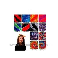 China Tie dye bandanna with wax printing multi color design. wholesale