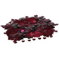 Wholesale Confetti - Small Hearts Burgundy Pack of 10 from china suppliers