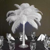 Ostrich Feather Centerpieces