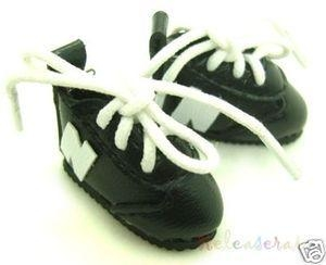 Quality Blythe/Pullip Shoes Micro N Sneakers Leather Black for sale