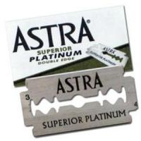 China 100 ASTRA Superior Platinum Stainless Steel Double Edge Safety Razor Blades on sale