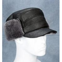 Buy cheap Elmer Fudd Hat (Black) - 100% Sheepskin by Northern Hats from wholesalers