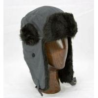 China Aviator Hat (Grey/Black) - Polar Fleece with Faux Fur Trim by Klondike Sterling wholesale