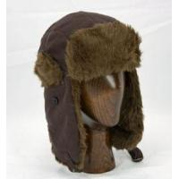 Buy cheap Aviator Hat (Brown/Brown) - Polar Fleece with Faux Fur Trim by Klondike Sterling from wholesalers