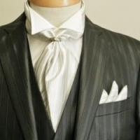 China Black Suit With Ascot Tie wholesale