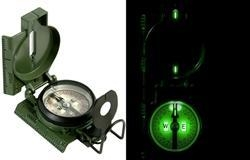 Quality Camping G.I. Issue Lensatic Tritium Compass (3H) #417 for sale