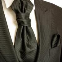 China Solid Black Cravat Set by Paul Malone (PLV21H) on sale