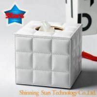 China D--Tissue boxes Unique Design Leather Tissue Box for Hotel Amenities-STA-1006075 wholesale