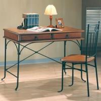 Casual 2 PC 2-Drawers Table Desk and Chair