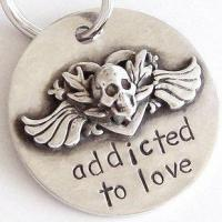 China Addicted to Love Sterling Silver Dog Tag by Nancy wholesale