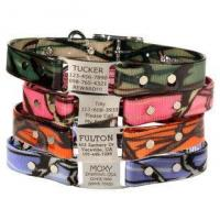 China Camouflage ScruffTag Personalized Dog Collars wholesale