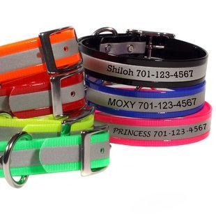 China Engraved Reflective Personalized Dog Collars