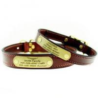 Buy cheap Mendota Leather Dog Collar with Personalized Name Plate from wholesalers