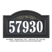 Wholesale Illuminated Oakleaf Arch House Number from china suppliers