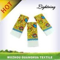 China Kitchen Product Tea Party Cotton Reactive Printing Tea Towel wholesale