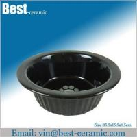 China Ceramic pet bowl large ceramic dog food feeder wholesale