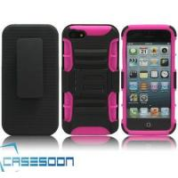 China Hard Silicone HOLSTER KICKSTAND Case for Apple iPhone 5 5G wholesale