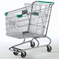 China 5 inch 180L metal Supermarket Shopping Carts with wheels, foldable seat for children on sale
