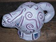 other re-usable and illuminating candles tea pot candle with stained glass